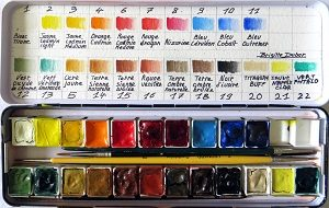Palette de couleurs a retoucher GAMBLIN