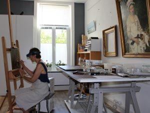 Atelier de restauration de peintures de chevalet - Rue du Bourg à Lambesart - Lille