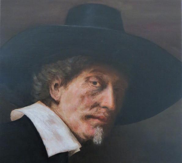 Copie finalisée d'une oeuvre de Rembrandt - Etudes et techniques inspirées du Grand Maître