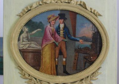7. Restauration conservative et esthétique du tableau et du trumeau, dans le respect des matériaux constitutifs d'origine