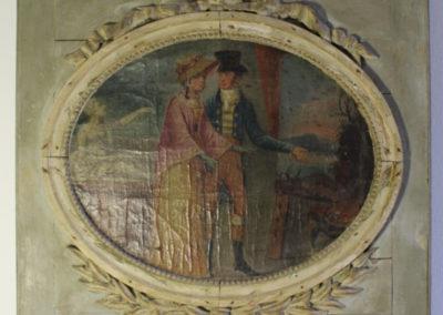 Restauration peinture murale sur bois - Décoration murale