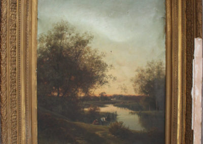 La toile - Brocante - Cadres anciens dorés - Belgique - Menin